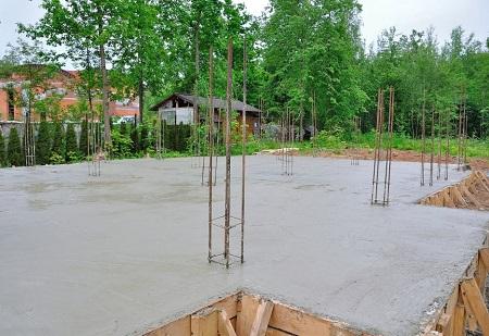 Плитный фундамент каркасного дома