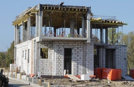 Строительство каркасно-монолитного дома