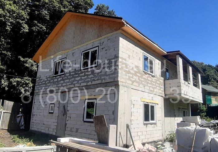 двух этажный каркасно-монолитный дом