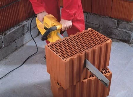 Распиловка керамических блоков