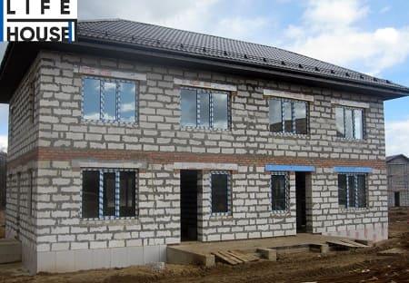 Строительство дуплекса из газоблоков